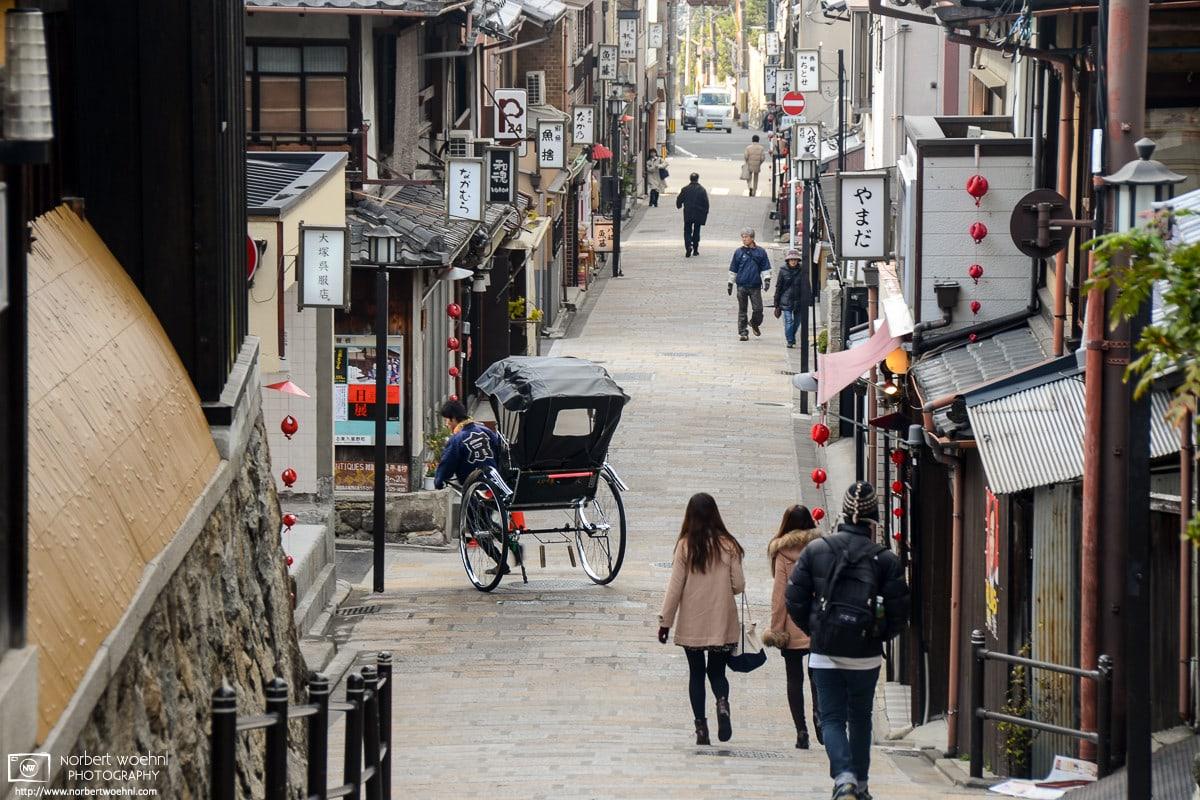 Side Street Rickshaw, Higashiyama, Kyoto, Japan Photo
