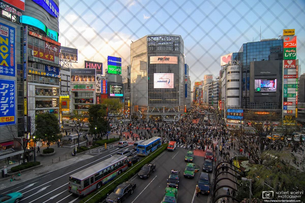 Shibuya Scramble Crossing, Tokyo, Japan Photo