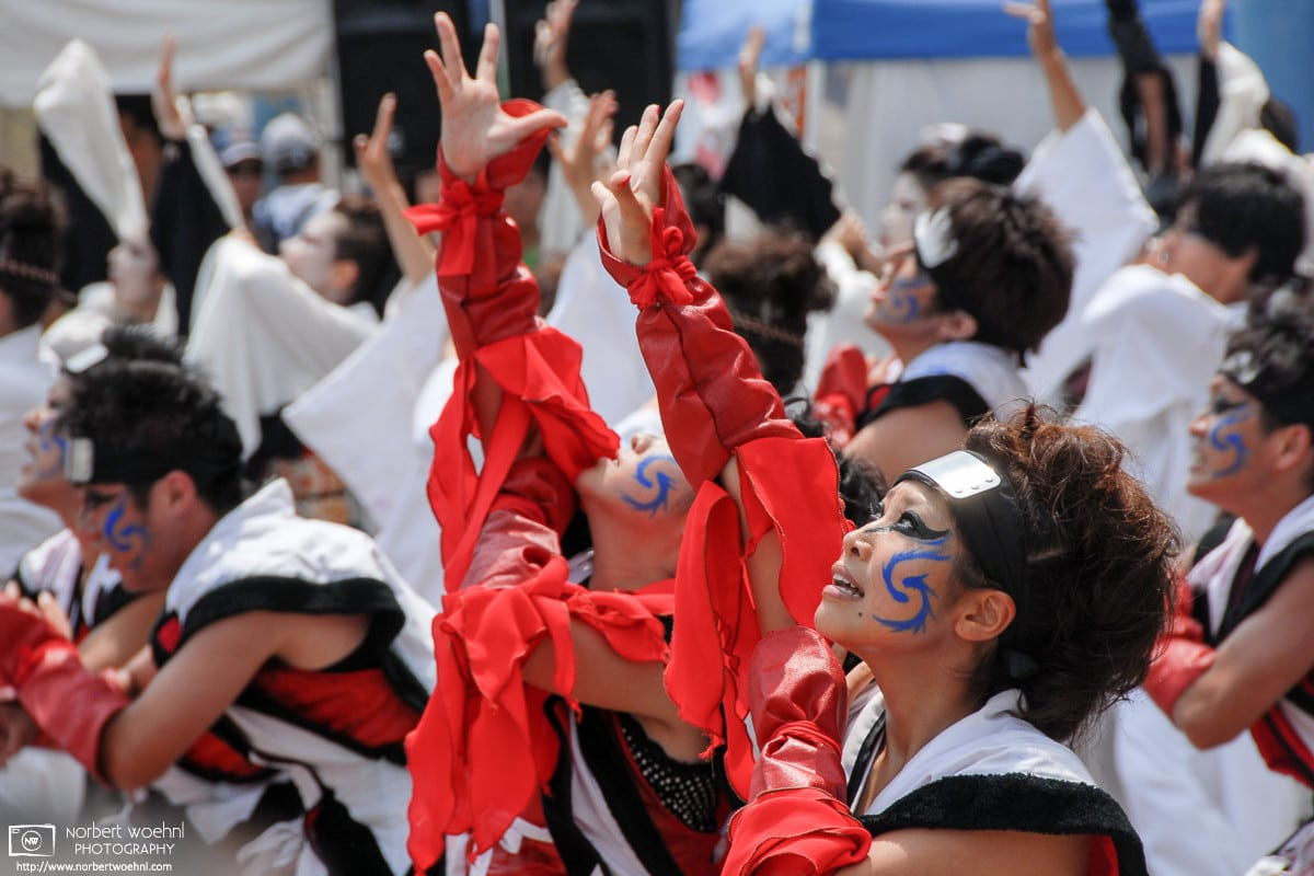 Okayama Uraja Festival Dancers, Okayama, Japan Photo