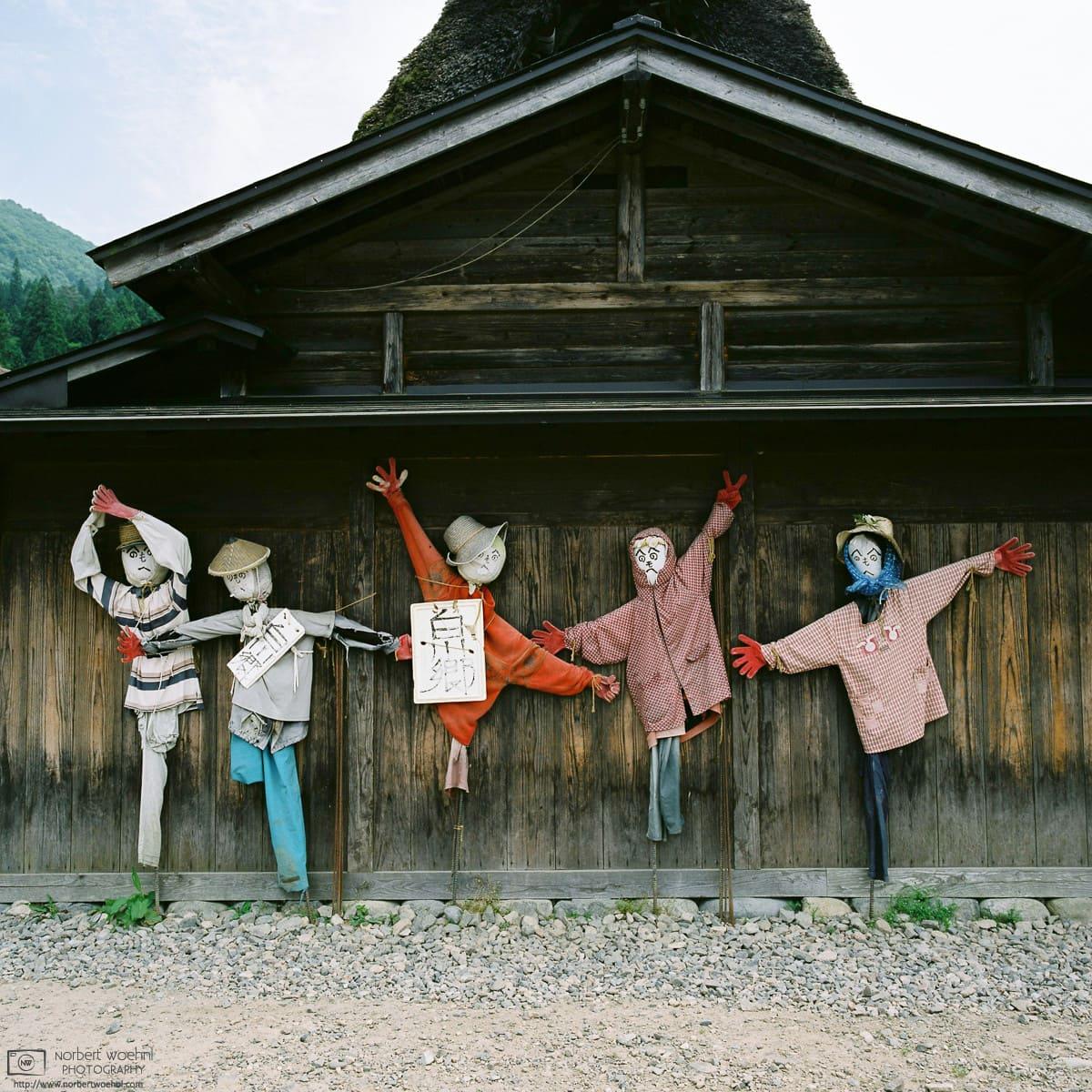 Dance of the Scarecrows, Ogimachi Village, Shirakawago, Gifu, Japan Photo