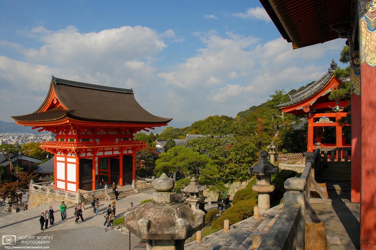 Gates at Kiyomizudera Temple, Kyoto, Japan Photo