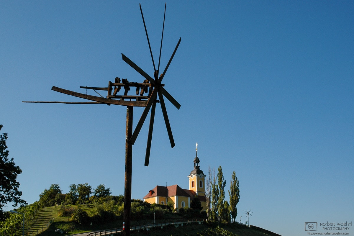 Church and Klopotec, Kitzeck, Styria, Austria Photo