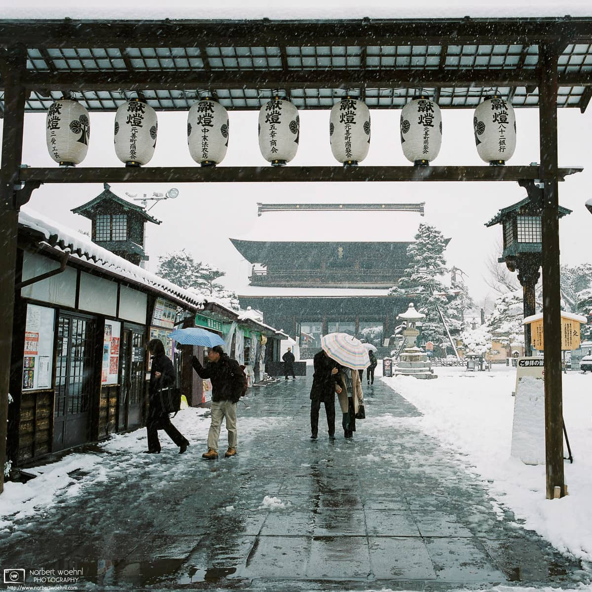 Zenkoji Temple Winter Snow, Nagano, Japan Photo
