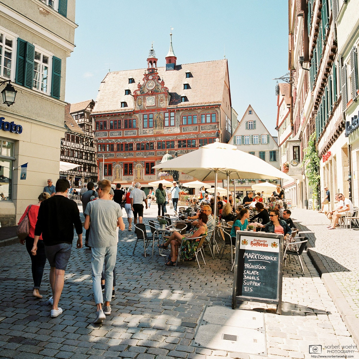Old Town Market Square with City Hall, Tübingen, Germany Photo