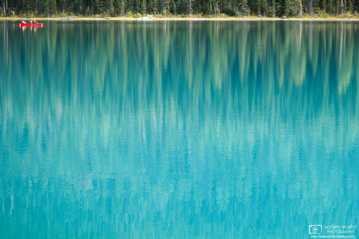 Photo: Beautiful turquoise in Yoho National Park, surrounded by a forest of Engelmann spruce, is covered in ice most of the year.