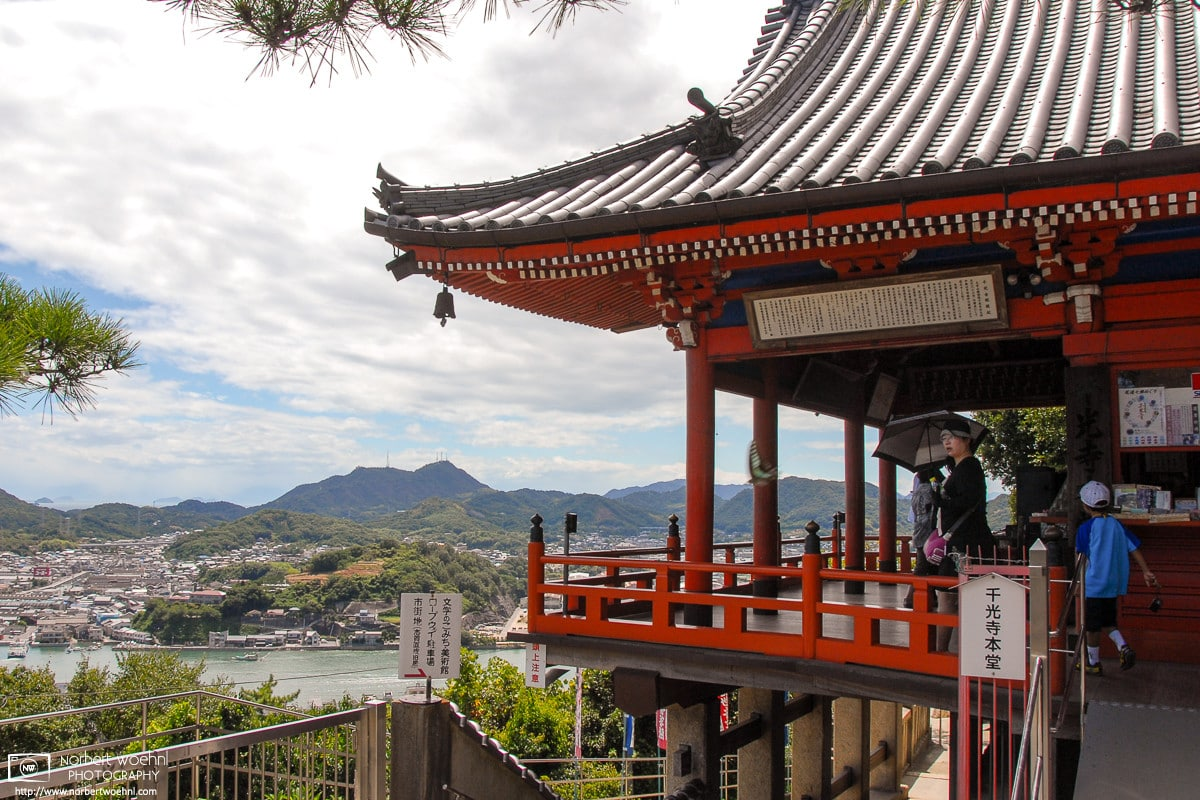 Memories of a visit to Senkoji Temple in Onomichi, Hiroshima Prefecture, Japan, on a relentlessly hot summer day.