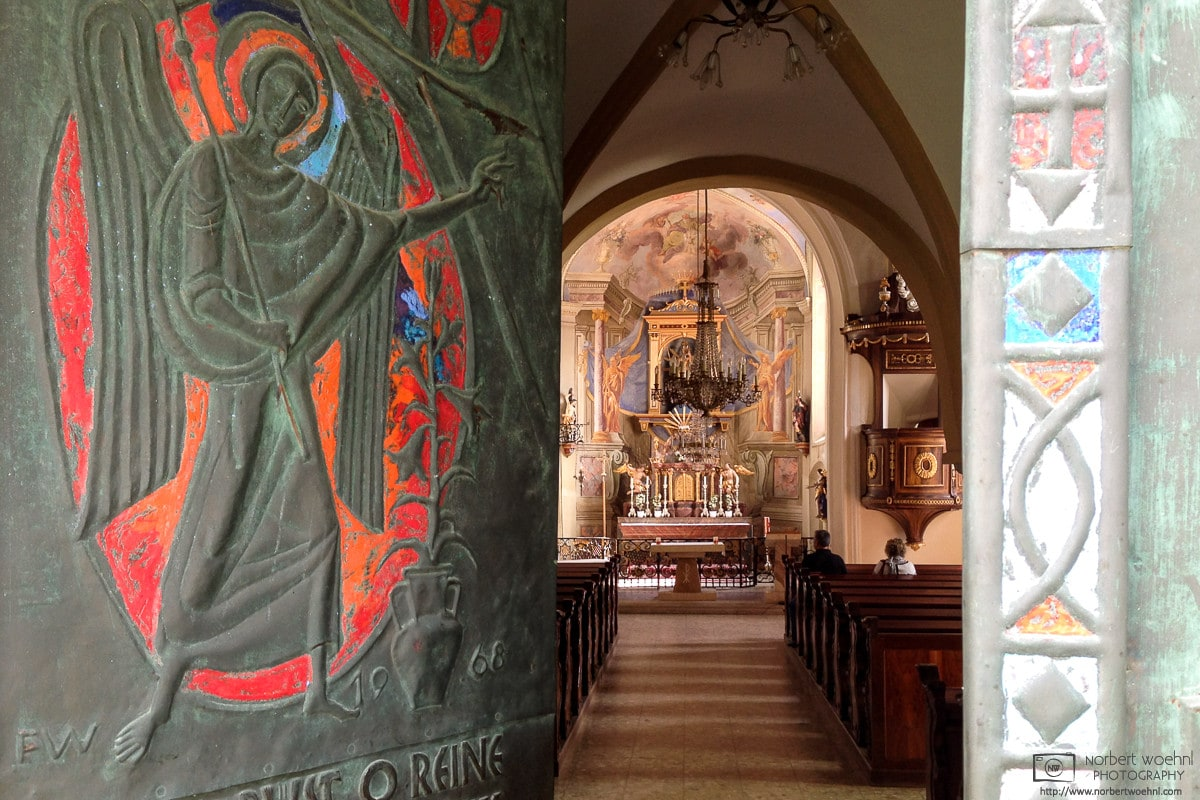 A view into the Frauenkirche (Church of Our Lady) in Bad Radkersburg in Styria, Austria.