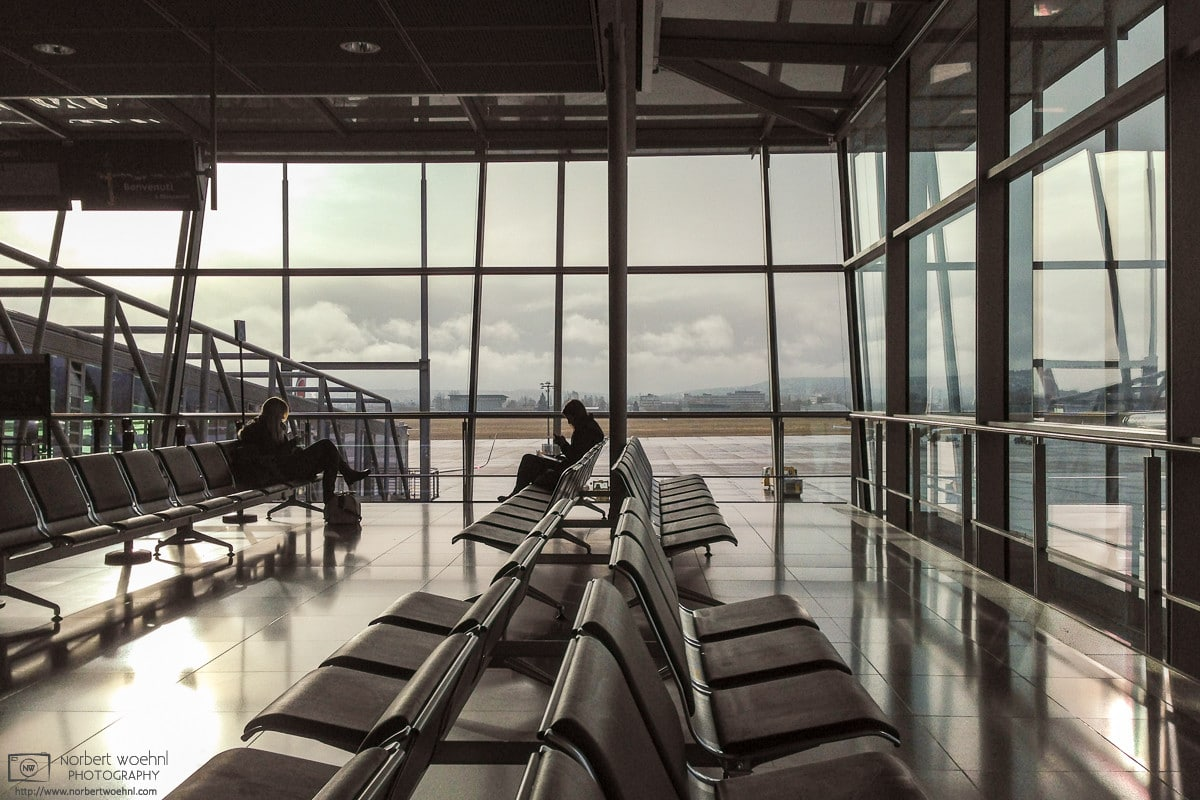 A quiet graphical impression from the gate area in Terminal 3 of Stuttgart Airport, Germany.